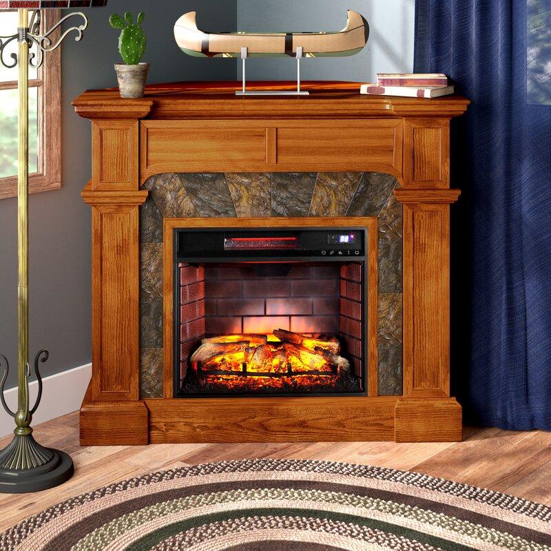 Alcott Hill Contreras Corner Electric Fireplace Reviews Wayfair