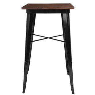 Beverley Square Metal Indoor Pub Table by Williston Forge