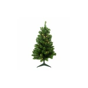 2' Green Pine Artificial Christmas Tree with 20 Clear Lights with Stand