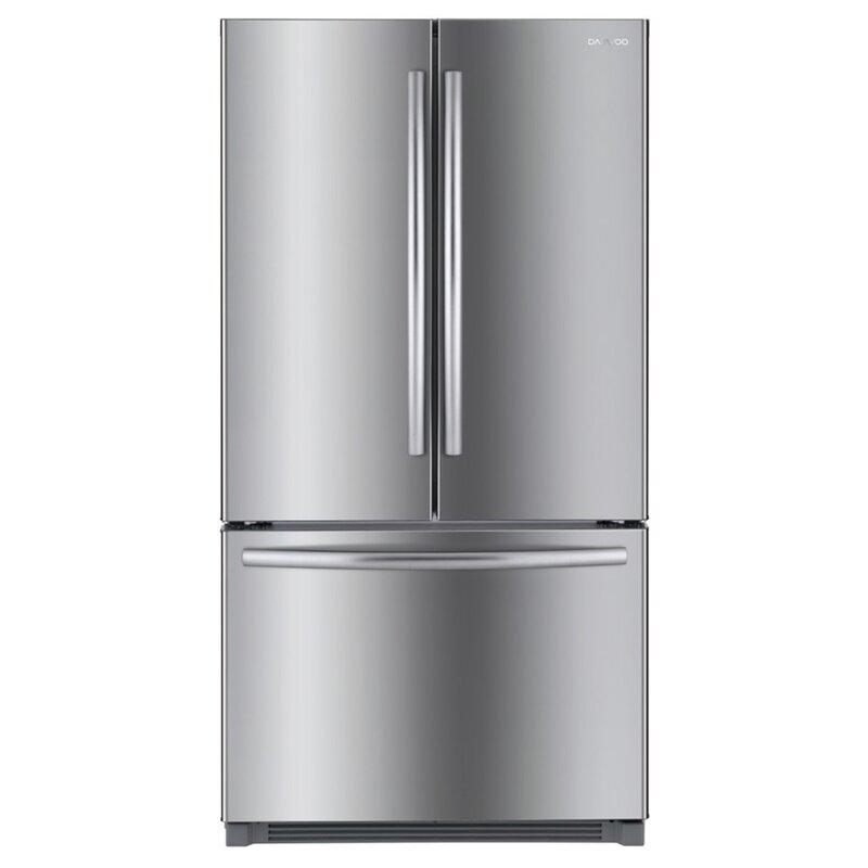 Daewoo Bottom Mount 26 cu. ft. French Door Refrigerator  Finish: Stainless Steel