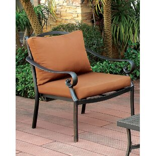 Dominque Scrolled Arm Chair With Cushion by Darby Home Co Sale