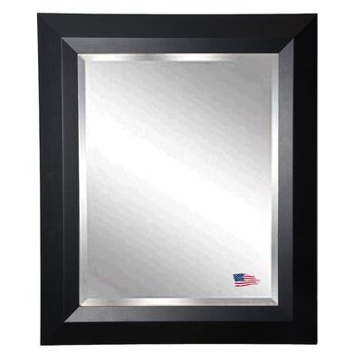Brayden Studio Solid Black Angle Wall Mirror Size: 45.5 H x 39.5 W x 0.75 D