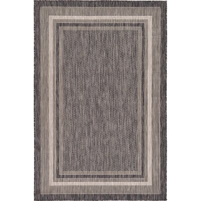 Sol 72 Outdoor Denning Black Indoor/Outdoor Area Rug Rug Size: Rectangle 6' x 9'
