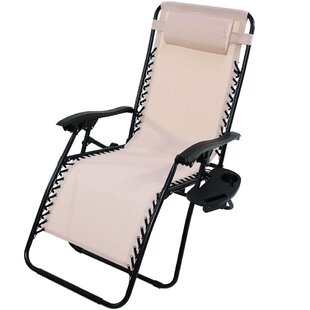 Annie Oversized Zero Gravity Chair with Pillow and Cup Holder by Freeport Park