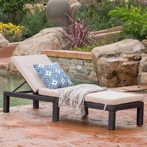 Elmfield Chaise Lounge with Cushion : chaise patio furniture - Sectionals, Sofas & Couches