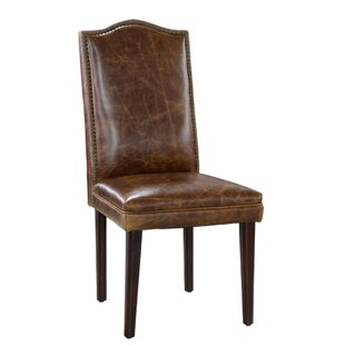 Leather Side Chair by Lazzaro Leather