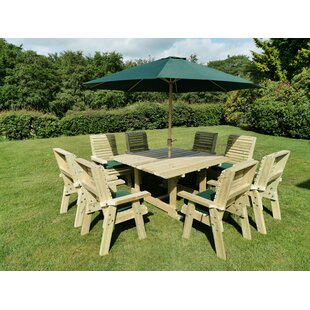 Lemaire Wooden Dining Table (Set Of 14) By Sol 72 Outdoor