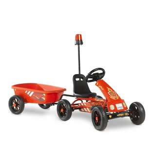 Foxy Fire Go Kart With Trailer By Exit Toys