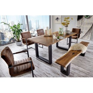 Union Rustic Lemay Wood Dining Table