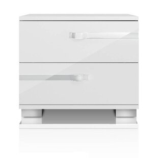 Alejandre 2 Drawer Nightstand