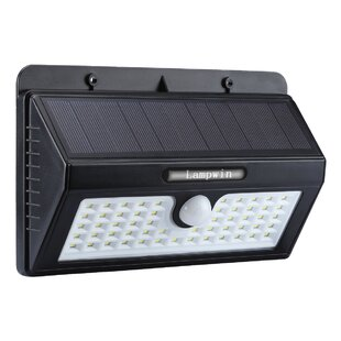 LANGRIA Waterproof Bright 2-Watt LED Solar Power Outdoor Security Flood Light with Motion Sensor