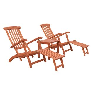 Longshore Tides Casto Reclining Chaise Lounge Set with Table