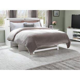 Kimsey Queen Storage Murphy Bed with Mattress