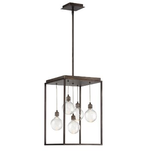 Gracie Oaks Fenagh 5-Light LED Square/Rectangle Pendant