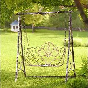 Metal Iris Porch Swing wit..