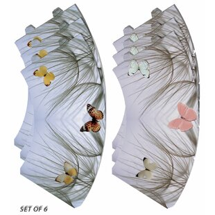 Butterfly on Beach Grass Vellum Party 5 Empire Lamp Shade (Set of 6)