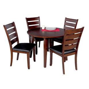 Caroline 5 Piece Solid Wood Dining Set by..