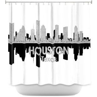City IV Houston Texas Shower Curtain