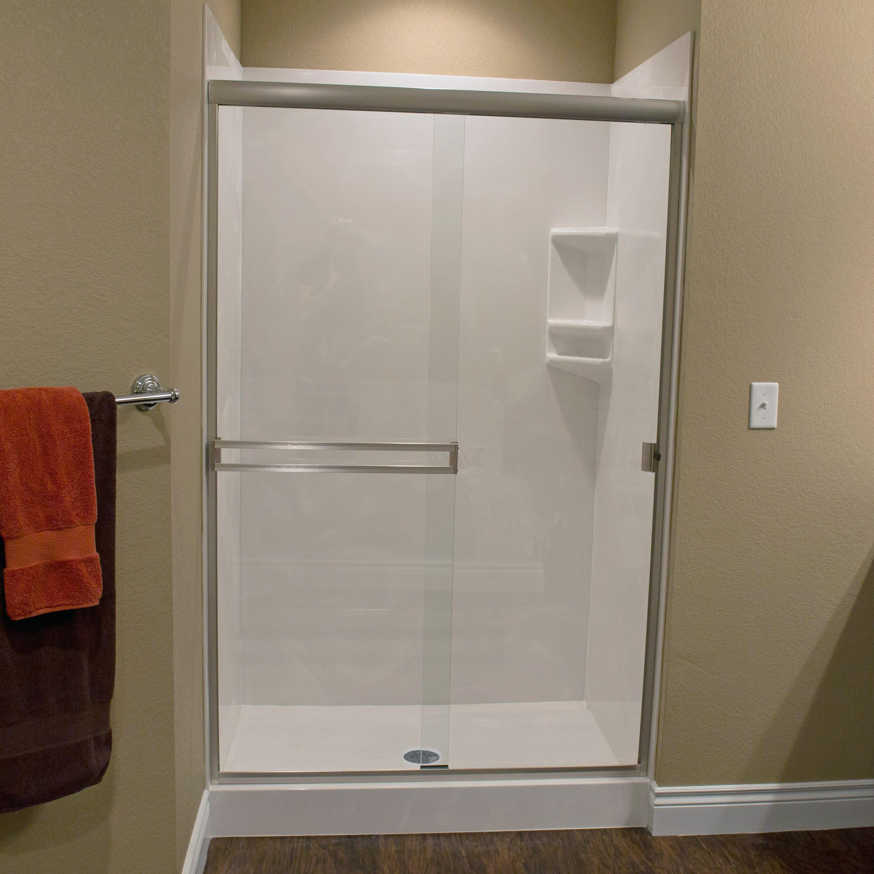 Taneycomo 60 X 62 38 Bypass Semi Frameless Shower Door
