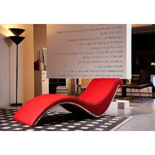 Orren Ellis Coalpit Heath Leather Chaise Lounge