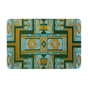 Nika Martinez Art Deco and Coral Memory Foam Bath Rug