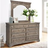 Adalric 8 Drawer Double Dresser with Mirror by Ophelia & Co.