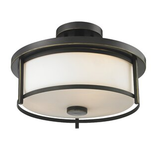 Crumley 2-Light Semi Flush Mou..