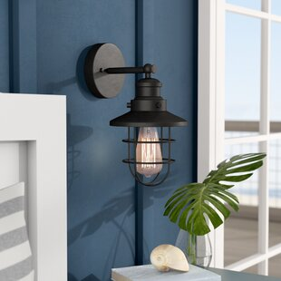 Chatterly 1-Light Armed Sconce by Breakwater Bay