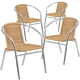 Gaurav Stacking Patio Dining Chair (Set of 4)
