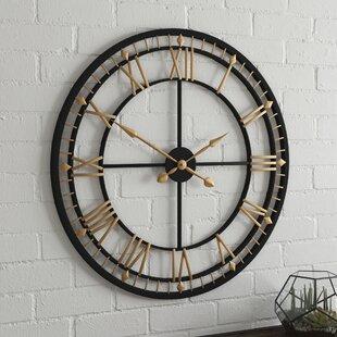 b0e89ed6a331 Oversized 80cm Wall Clock. by Borough Wharf