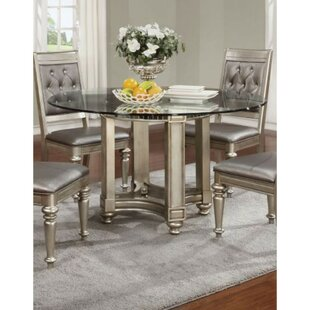 House of Hampton Alyda Bling Zippy Glass Dining Table