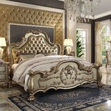 Wamsley Solid Wood and Upholstered Standard Bed by Astoria Grand