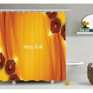 Wiggins Diwali Curtain Like Indian Inspired Backdrop With Wooden Oriental Carving Frames Print Single Shower Curtain