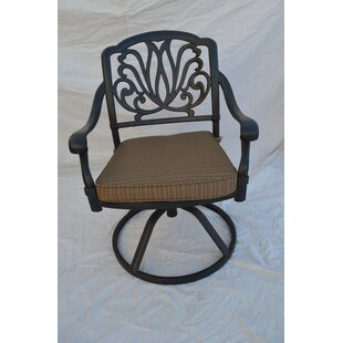 Kristy Swivel Patio Dining Chair with Cushion