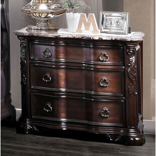 House of Hampton Trevin 3 Drawer Nightstand