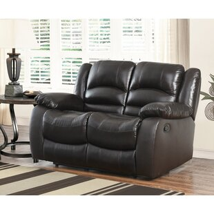 Jorgensen Genuine Leather Reclining Loveseat by Darby Home Co