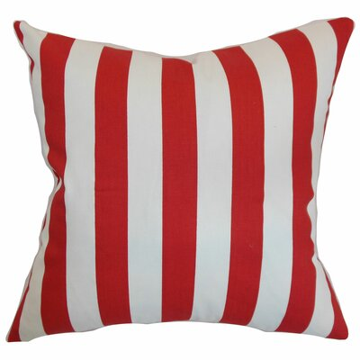 Birch Lane™ Heritage Knotts Indoor/Outdoor 100% Cotton Throw Pillow Color: Lipstick, Size: 20 H x 20 W