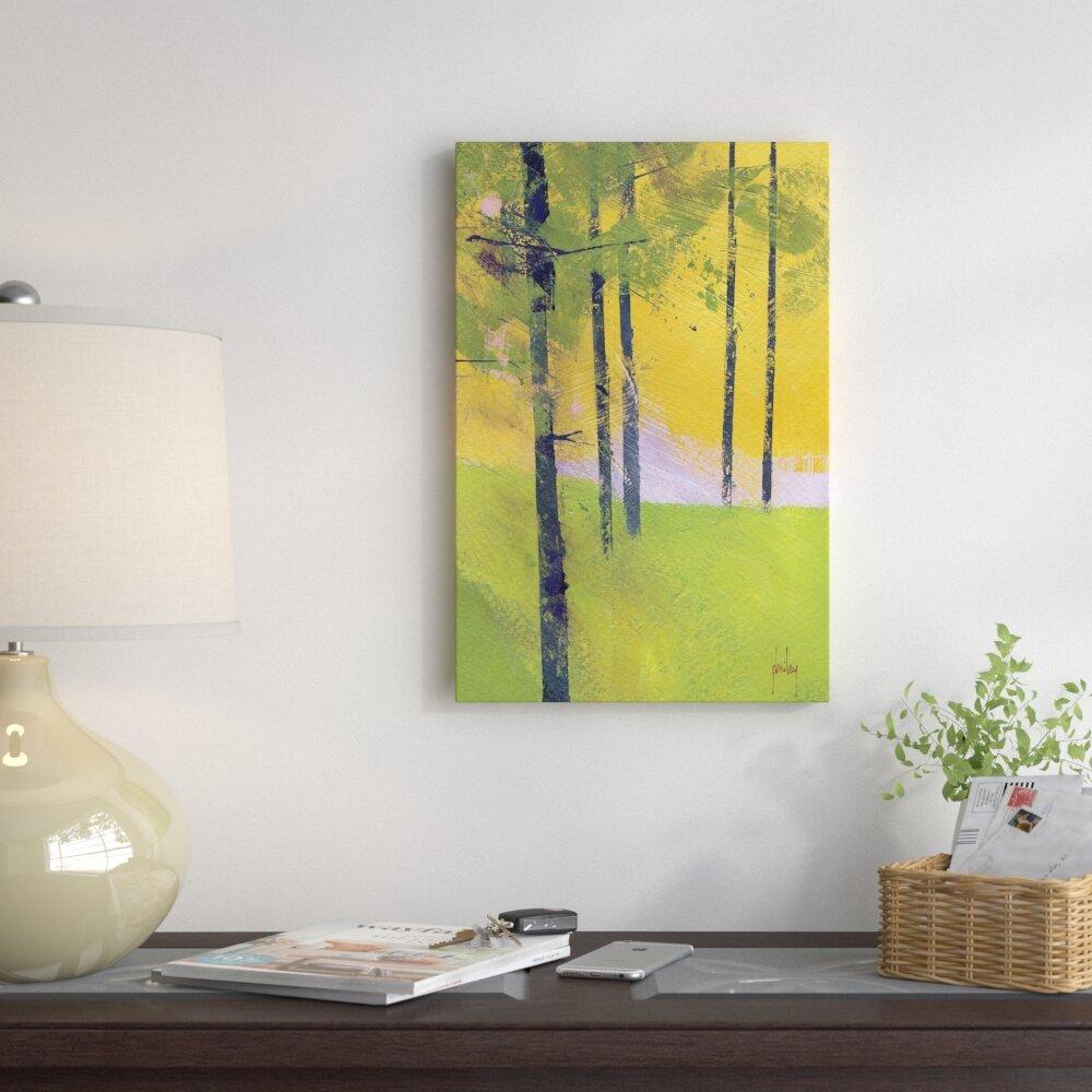 East Urban Home \'Simple Spruce\' Print on Canvas | Wayfair