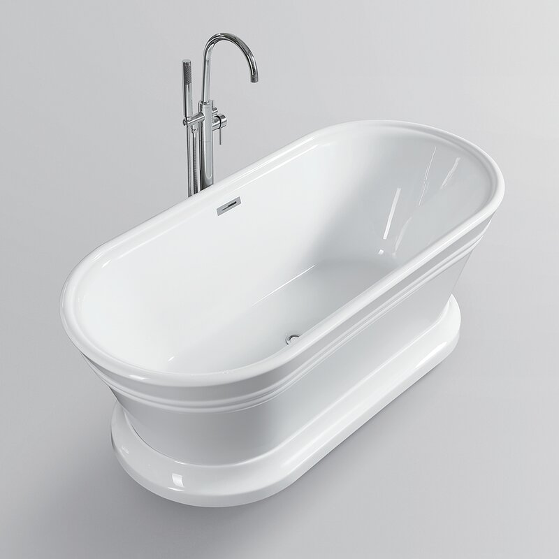"59"" x 24"" Freestanding Soaking Bathtub"