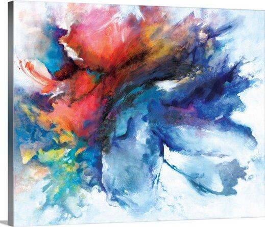 Color Burst Painting Print Wayfair