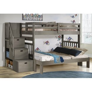 Jenafir Twin over Full Bunk Bed with Drawers by Winston Porter