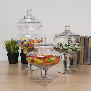 Candy Buffet 3 Piece Apothecary Jar Set