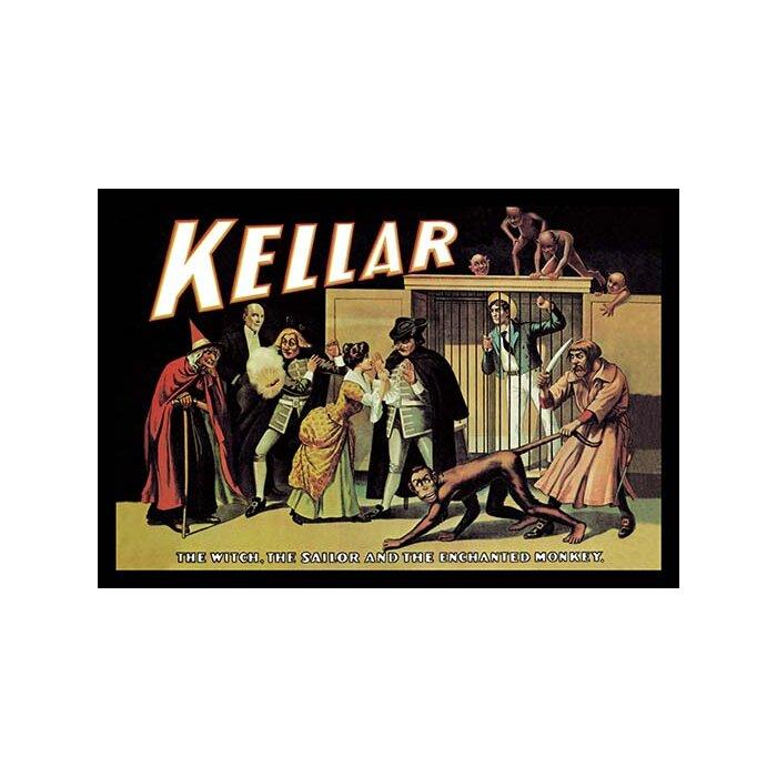 MAGIC KELLAR WITCH SAILOR ENCHANTED MONKEY MAGICIAN SHOW VINTAGE POSTER REPRO