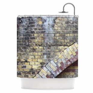 Grunge Brick Wall Single Shower Curtain