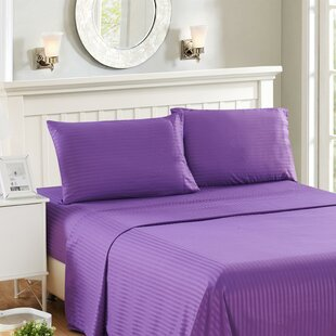 Harvard Stripe Microfiber 4 Piece Sheet Set