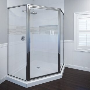 Deluxe 14 x 65.12 Neo-angle Pivot Shower Enclosure By Basco
