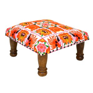 Embroidered Ottoman by Divine Designs