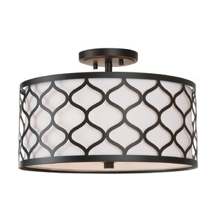 Athey 3-Light Semi Flush Mount by Bungalow Rose