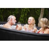 MSPA USA Vinyl Round Inflatable Hot Tub in Gray