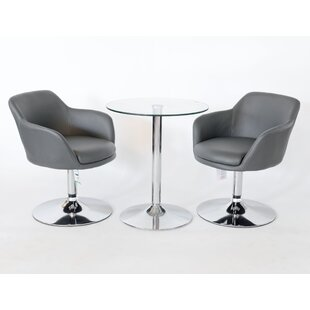 Windy Dining Set With 2 Chairs By Metro Lane